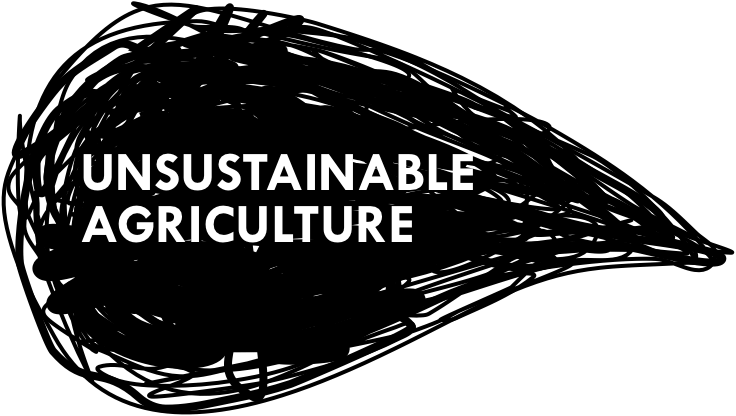 Unsustainable agriculture title graphic