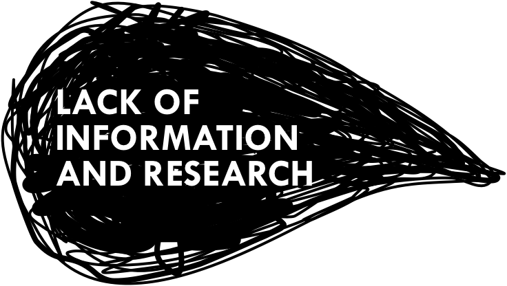 Lack of information and research title graphic